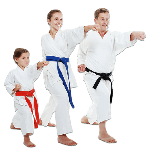 Martial Arts Lessons for Families in Boscobel WI - Man and Daughters Family Punching Together