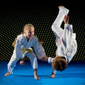 Martial Arts Lessons for Kids in Boscobel WI - Judo Toss Kids Girl